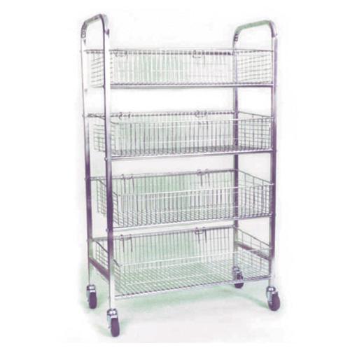 4-Tier Chromed Bread Trolleys » Mr Shelf - Shelving & Racking