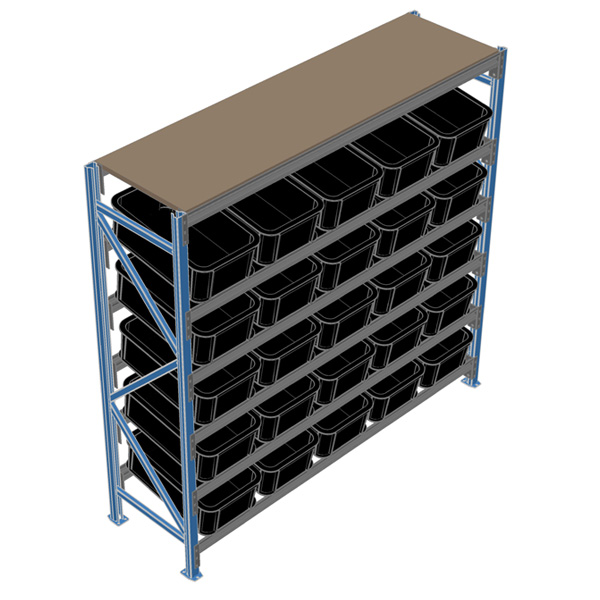 bin display racking system