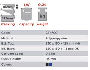 1.5 Litre Storage Bin