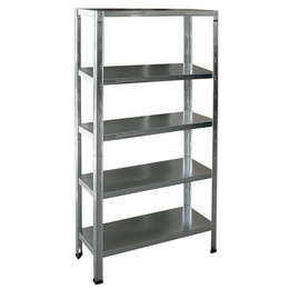 Bolted Angle Stainless Steel Shelf