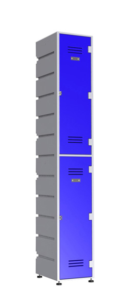 2-Tier-Flat Plastic Locker