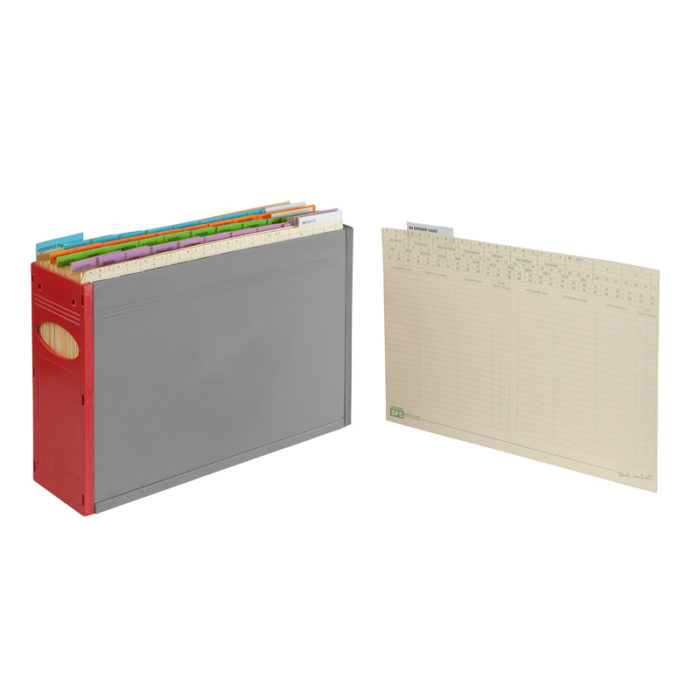 A4 divider cardfile out