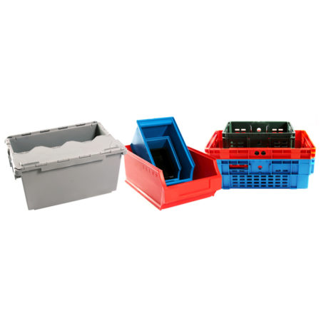 Plastic Bins, Storage & Crates